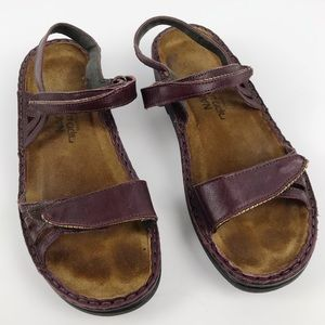 Naot Anika Hook and Loop Leather Sandals Shiraz 6